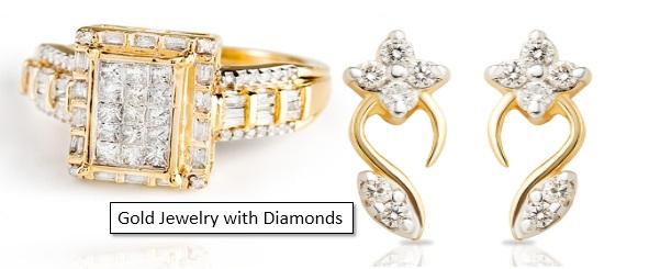 gold jewelry with diamonds