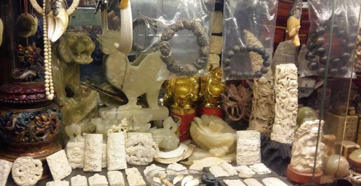 Ivory jewelry pieces